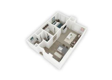 1B floor plan