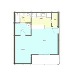 Studio Floor Plan at Veri at Timberhill, Corvallis, OR