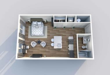 S-1 Floor Plan at Downtown 360, Salt Lake City, 84101