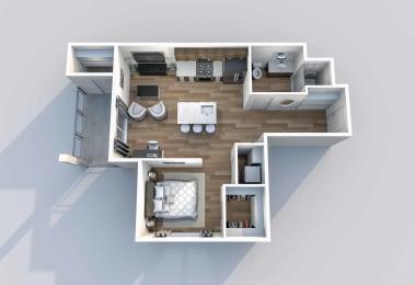 S-2 Floor Plan at Downtown 360, Salt Lake City, Utah