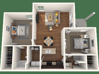 Dorel Two Bedroom