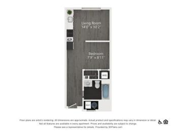 S.2 Floor Plan at Quattro, Salt Lake City, 84111