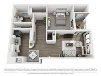 Floor Plan A10b 1 Bed 1 Bath