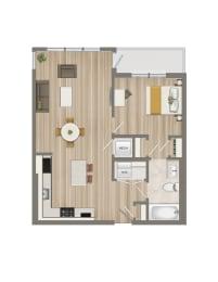 Floor Plan One Bedroom-02 Tier