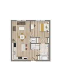Floor Plan One Bedroom-03 Tier