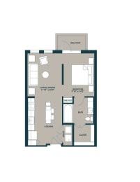 6580sf one bedroom