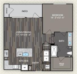 A3 Floor Plan at The Alden at Cedar Park, Cedar Park