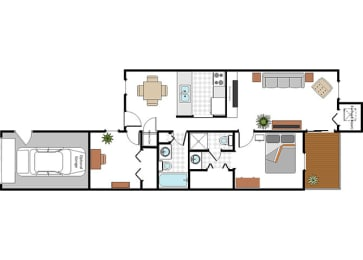 Floor Plan Layout at Raleigh House Apartments, MRD Apartments, East Lansing, 48823