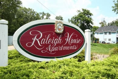 Signboard To Property at Raleigh House Apartments, MRD Apartments, Michigan, 48823