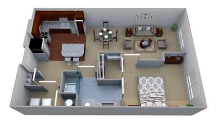 A1 Floor Plan layout at Walton Riverwood, Atlanta, GA, 30339