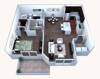 A1 Floor Plan at Walton Bluegrass, Alpharetta, 30005