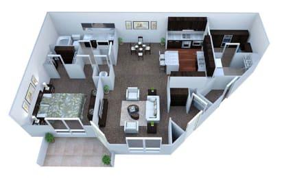 A2 Floor Plan at Walton Bluegrass, Alpharetta, Georgia