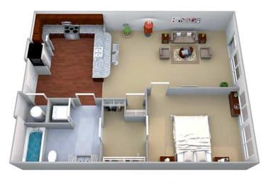 A3 Floor Plan Layout at Walton Riverwood, Atlanta, GA