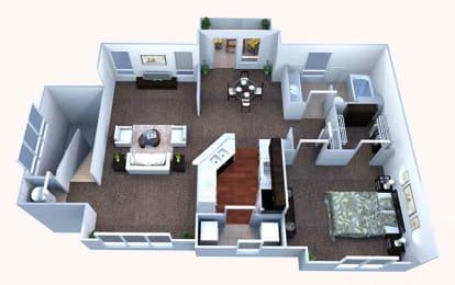 A3 Floor Plan at Walton Bluegrass, Alpharetta