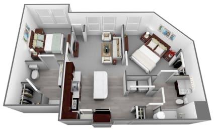 Legacy at Walton Heights B1_2 Floor Plan