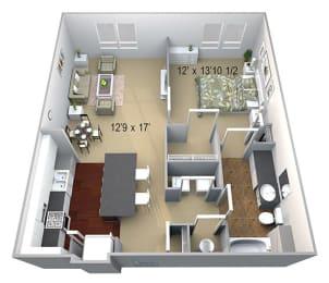 Walton Westside A1 Floor Plan at Walton Westside, Atlanta