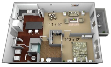Walton Westside A2b Floor Plan  at Walton Westside, Georgia, 30318