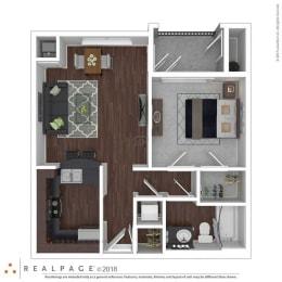 1 Bedroom 1 Bathroom floor plan at The Life at Sterling Woods, Houston, 77017