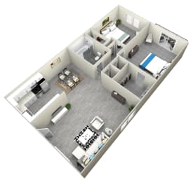 2 Bed 1 Bath apartment at Bella Park Apartments