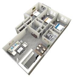 3 Bed and 2 bath apartment at Bella Park Apartments