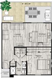 The Alcove Floor Plan at Avilla Parkway, Texas