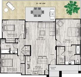 The Haven Floor Plan at Avilla Oakridge, Forney, 75126
