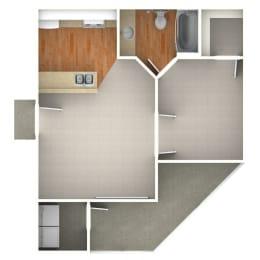 Floor Plan  Robin 1 Bedroom for Rent at Anatole Apartment Homes Daytona Beach