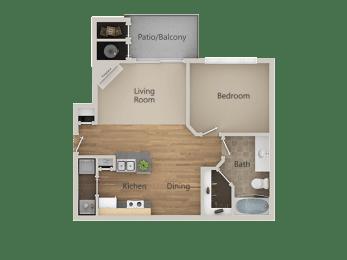 A1 1Bed_1Bath at Echo Ridge Apartments, Colorado, 80108