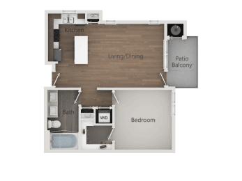 1x1A_2D at Lofts at 7800Apartments, Midvale, 84047