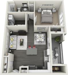 1 Bedroom, 1 Bathroom Apartment at Rivulet