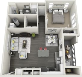 One Bedroom, One Bathroom Apartment at Rivulet Apartments