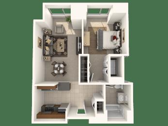 1B Floor Plan |Hartford 21