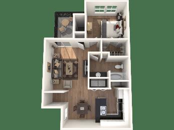 1B_693 Floor Plan | Northland at the Arboretum