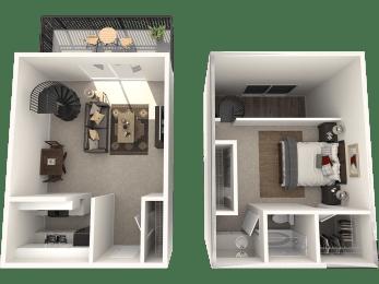1X1 Floor Plan   Randolph Park