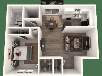 1X1G Floor Plan   Randolph Park