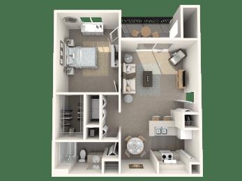 1 x 1 floor plan | Cypress Shores