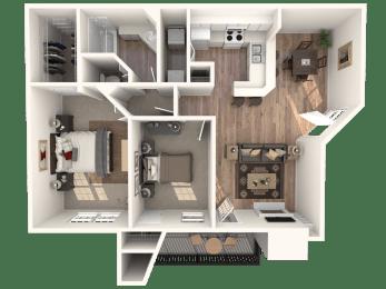 2x1 Floorplan |Channing's Mark
