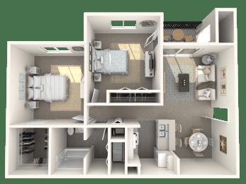 2 x 1 floor plan | Cypress Shores
