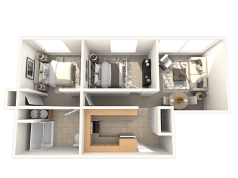 The Granite Floor Plan | Residences at Manchester Place