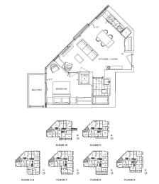 Floor Plan A1 - Camden IV