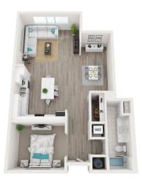 Floor Plan Studio, 1 Bathroom
