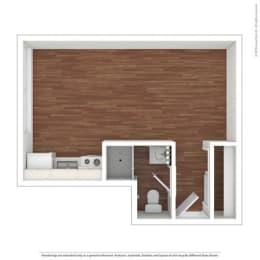Studio Floor Plan at Peninsula Pines Apartments, California, 94080