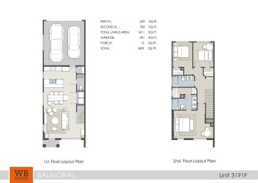 3191F Floor Plan at Clearwater at Balmoral Apartments, TBD MANAGEMENT, Atascocita, TX, 77346