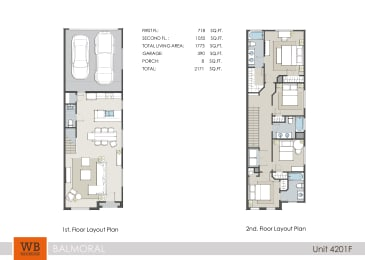 4201F Floor Plan at Clearwater at Balmoral Apartments, TBD MANAGEMENT, Texas, 77346