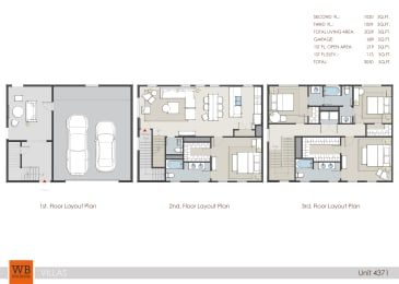 4371 Floor Plan at Villas at Kings Harbor, Kingwood, Texas