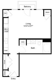 Floor Plan  City Gate Market Studio floor plan