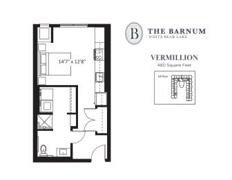 Vermillion Floor Plan at The Barnum, White Bear Lake, Minnesota