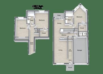 Beckley_3 Bedroom Townhome Floor Plan