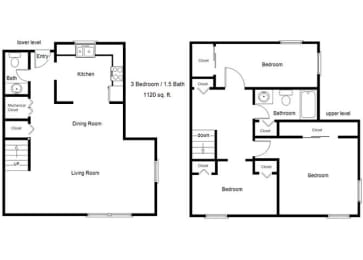 Cedar Hills_3 Bedroom Floor Plan
