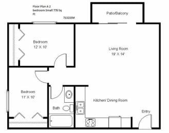 Crosswinds_Two Bedroom Floor Plan